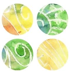 Set of Grunged Watercolor Circles vector image