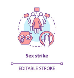 Sex strike concept icon sexual abstinence vector