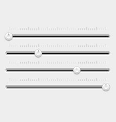Slider control panel white settings bars vector