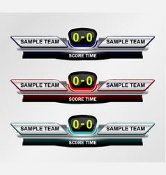 Sport Scoreboard Time vector