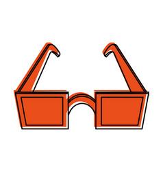 Square frame sunglasses icon image vector
