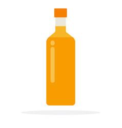 sunflower oil in bottle vector image