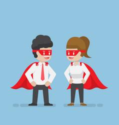 Super businessman and businesswoman vector