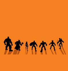 super team back vector image