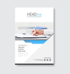 template design brochure annual report magazine vector image