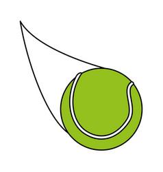 Tennis ball design vector