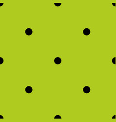 tile pattern with small black polka dots on green vector image