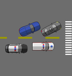 Top view of a street vector