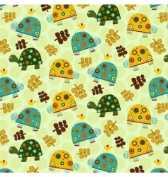 turtle pattern vector image