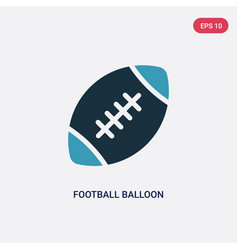 Two color football balloon icon from multimedia vector