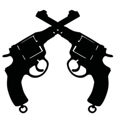 Two old revolvers vector
