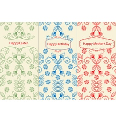 Variants of greeting cards vector image