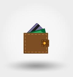 wallet flat design vector image