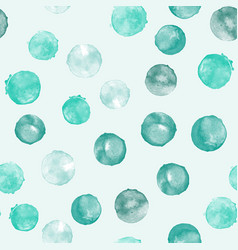 Watercolor teal seamless pattern vector