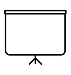 whiteboard line icon outline sign linear style vector image