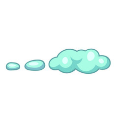 Wind cloud icon cartoon style vector