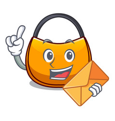 With envelope beautifully hobo bag on character vector