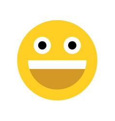 yellow happy face emoji face vector image