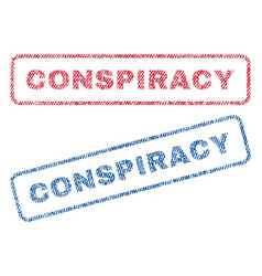 Conspiracy textile stamps vector