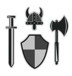viking armor set vector image