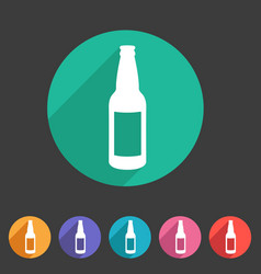 craft beer bottle template vintage brewery bottles vector image vector image