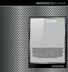 grated metal background vector image