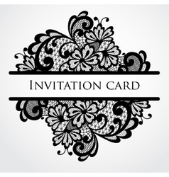 lace card vector image vector image