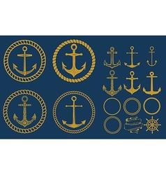 anchor labels set vector image