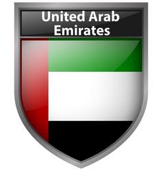 badge design for flag of united arab emirates vector image vector image