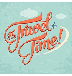 Calligraphic Writing Its Travel Time vector image