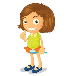 Oral Health Girl vector image