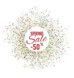 Sale confetti banner on white background sale vector