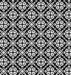 Seamless pattern with ethnic geometric flowers vector image