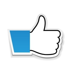 Like us thumb up vector image