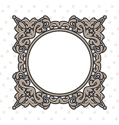 vintage frame round vector image vector image