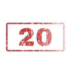 20 rubber stamp vector image