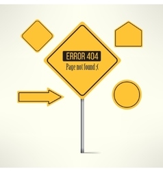 404 web page not found error made with road vector image