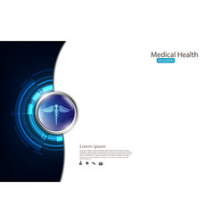 Abstract background medical health care concept vector
