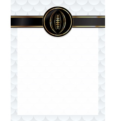 American Football Letterhead Background vector image
