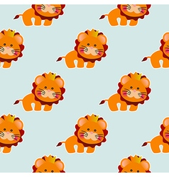 Baby pattern with a cute lion vector