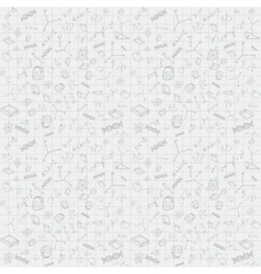 Back To School Pattern Background vector image