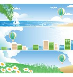 ballon banner vector image