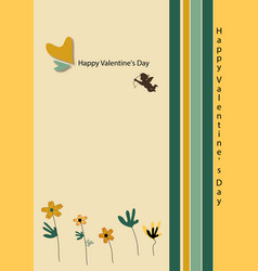 beige card with cupid vector image vector image
