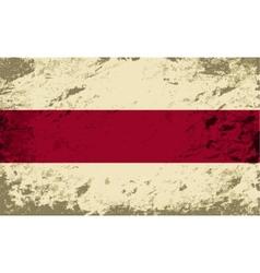 Belarusian flag Grunge background vector image
