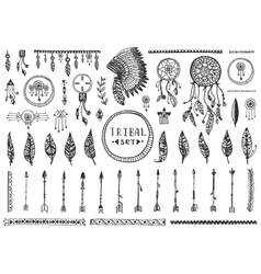 Big tribal elements collection vector image