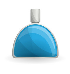 blue perfume bottle icon cartoon style vector image