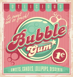 Bubble gum vector