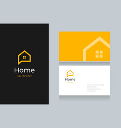 Bubble-home-logo-with-business-card vector