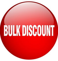 Bulk discount red round gel isolated push button vector