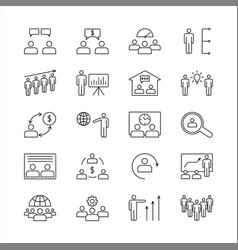 business people icons office teamwork group team vector image